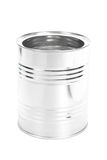 Metal Tin Can, Canned Food, isolated on white background Royalty Free Stock Images