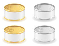 Metal tin can set icons vector illustration Stock Images