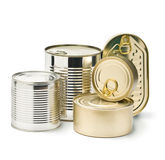 Metal Tin Cans Royalty Free Stock Photo
