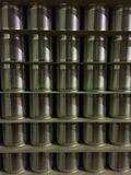Metal Tin cans for food closeup Royalty Free Stock Image