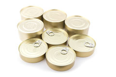 Metal tin close up Royalty Free Stock Image