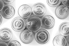 Metal tin closeup Royalty Free Stock Photo