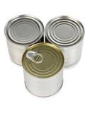 Metal tins Royalty Free Stock Image