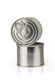 Metal tins Stock Photography