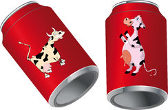 Metal tins for drinks Stock Photo