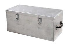 Metal Tool Box. A handyman's metal tool box isolated on white Stock Photo