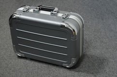 Metal tool case. On table Royalty Free Stock Image