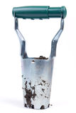 Metal tool for digging holes and planting of fruit and vegetable. S Stock Photos