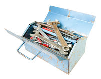 Metal toolbox isolated on white Stock Image
