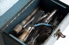 Metal toolbox with tools Royalty Free Stock Photos