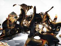 Metal torcido Foto de Stock