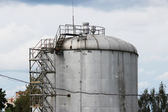 Metal tower with flammable fuel. In the territory Stock Image