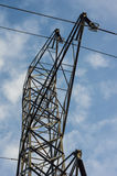 Metal tower for high voltage lines Royalty Free Stock Image