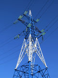 A metal tower of Power Lines Royalty Free Stock Photography