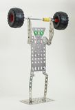 Metal toy. Home made metal toy depicting weightlifter Royalty Free Stock Photo