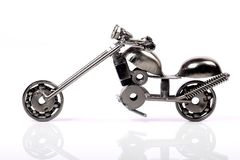 Metal toy bike Royalty Free Stock Image