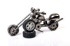 Metal toy bike royalty free stock photos