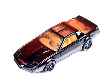 Metal toy car. Beautiful shot of metal toy car on white background Royalty Free Stock Photography