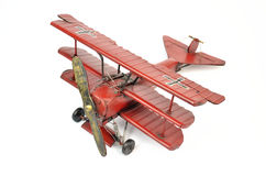 Metal toy plane Royalty Free Stock Images