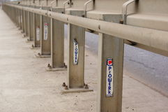Metal traffic barrier Stock Photography