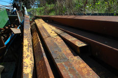 Metal Trash. Discarded steeel girders and tubing Stock Images
