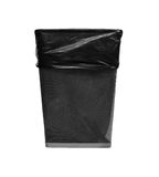 Metal trash with bag Stock Photography