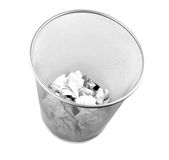 Metal trash bin Stock Photography