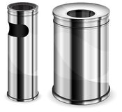 Metal trash bins Royalty Free Stock Photography
