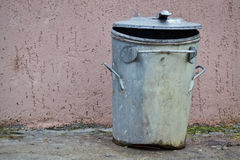 Metal trash can Royalty Free Stock Photography