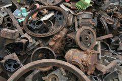Metal trash Stock Photography