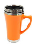 Metal Travel Thermo-cup Stock Photo