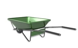 Metal tray wheel barrow Stock Images