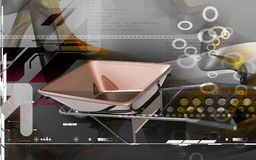 Metal tray wheel barrow Royalty Free Stock Image