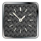 Metal Tread Clock Face. A metal tread background pattern with a clock face over white Stock Image