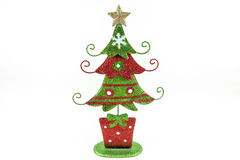 Metal tree decoration. A festive metal Christmas tree decoration for the holidays Royalty Free Stock Images