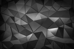 Metal triangle mosaic background 3d render vector illustration