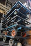Metal trolley Stock Photos