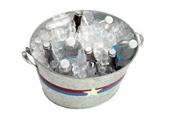 Metal Tub of Beverages Royalty Free Stock Photo