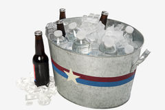 Metal Tub of Beverages Royalty Free Stock Images