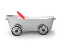 Metal tub the car Royalty Free Stock Photography