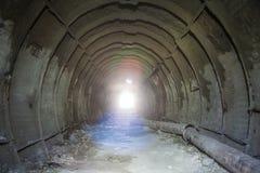 Metal tubbing подкладка в покинутой меловой шахте в Белгороде Стоковое фото RF