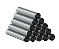 Metal tube. Royalty Free Stock Images