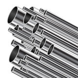 Metal tube. Stock Photos