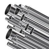 Metal tube. Stock Photos