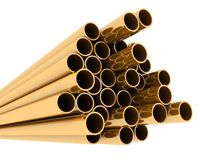Metal tube Royalty Free Stock Image