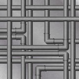 Metal Tube Background Stock Image