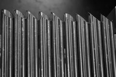 Metal tube sharp Royalty Free Stock Photography