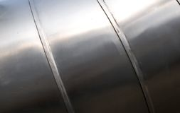 Metal tube texture Stock Image