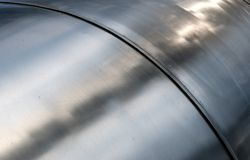 Metal tube texture Stock Photo