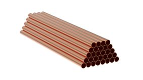 Metal tubes Stock Images